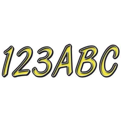 Series 400 Registration Kit Smooth Cursive Font with Left to Right Color Gradation in Yellow/Black