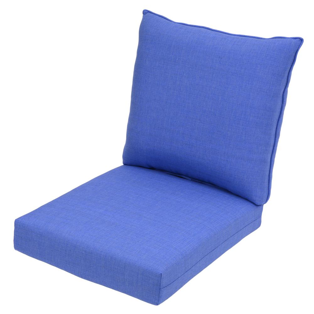 Periwinkle 2-Piece Deep Seating Outdoor Lounge Chair Cushion