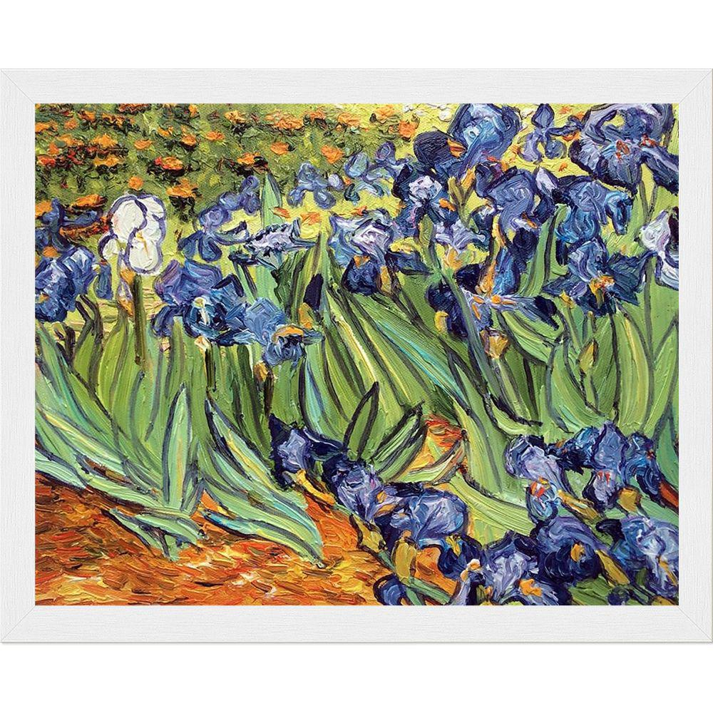 LA PASTICHE Irises with Studio White Woodby Vincent Van Gogh Framed Abstract Wall Art 9.5 in. x 11.5 in., Multi-Colored was $1021.0 now $288.56 (72.0% off)