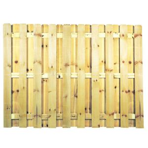 6 Ft X 8 Pressure Treated Pine Shadowbox Fence Panel