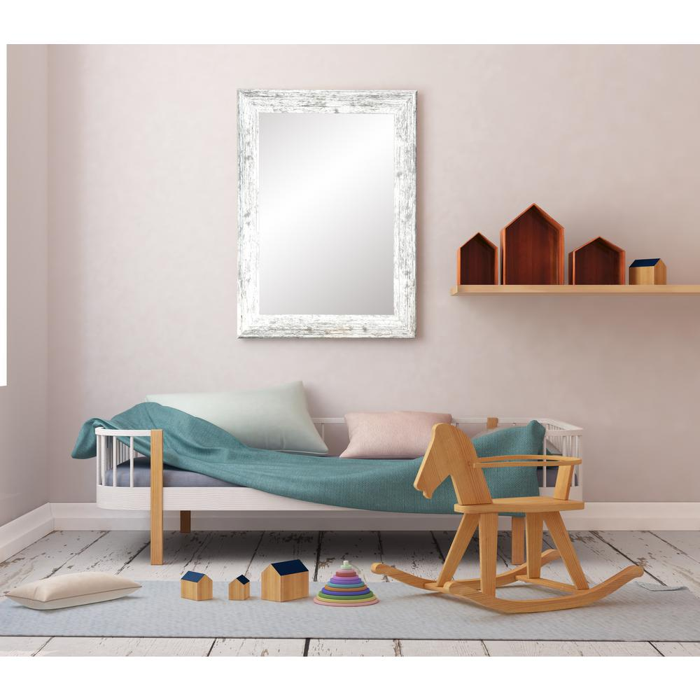 American White Barn Wood Wall Mirror Bm032 L The Home Depot