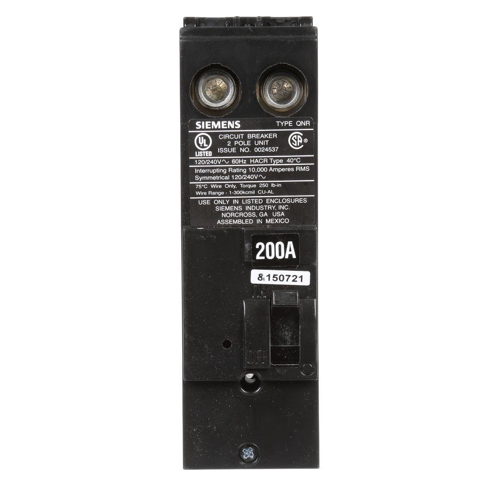 200 Amp 2-Pole 10kA Type QN Reverse Handle Main Breaker