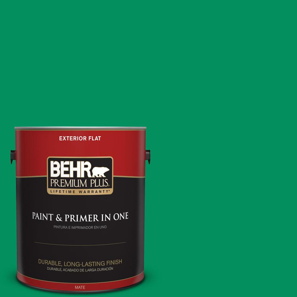 BEHR Premium Plus 1-gal. #470B-6 Emerald Lake Flat Exterior Paint