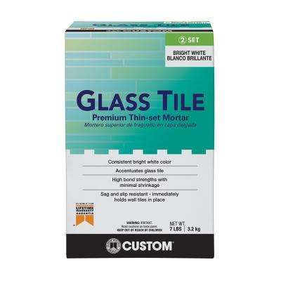 Glass Tile 7 lb. White Premium Thin-Set Mortar