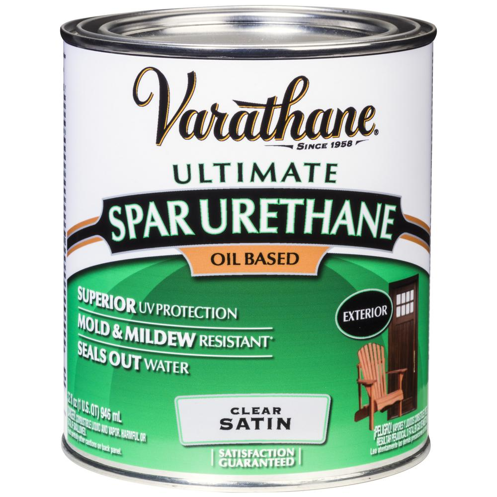 varathane 1 qt clear satin oil based exterior spar urethane 2 pack 9341h the home depot
