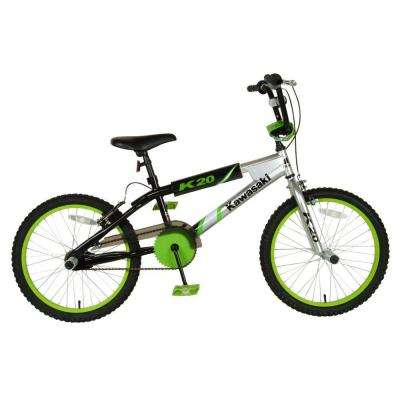 BMX Kid's Bike, 20 in. Wheels, 11.25 in. Frame, Boy's Bike in Silver/Black