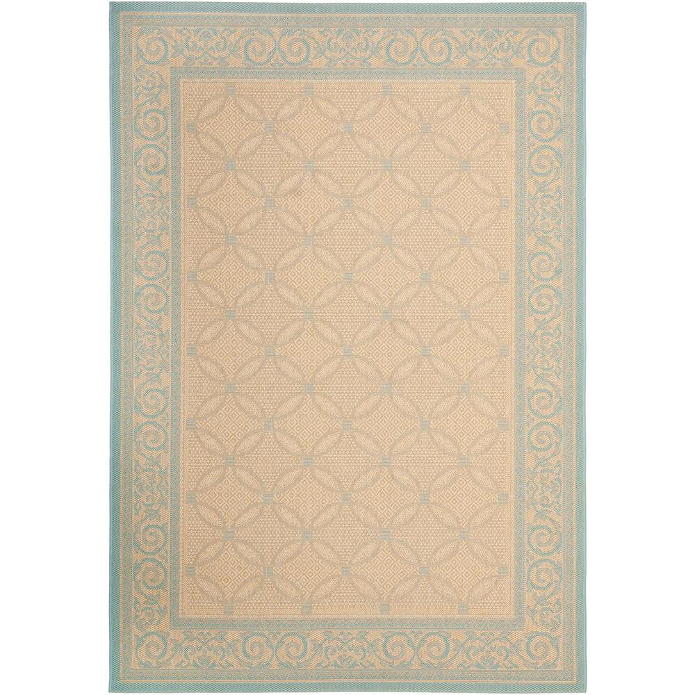safavieh courtyard cream aqua 8 ft x 11 ft indoor outdoor area rug cy6107 15 8 the home depot. Black Bedroom Furniture Sets. Home Design Ideas