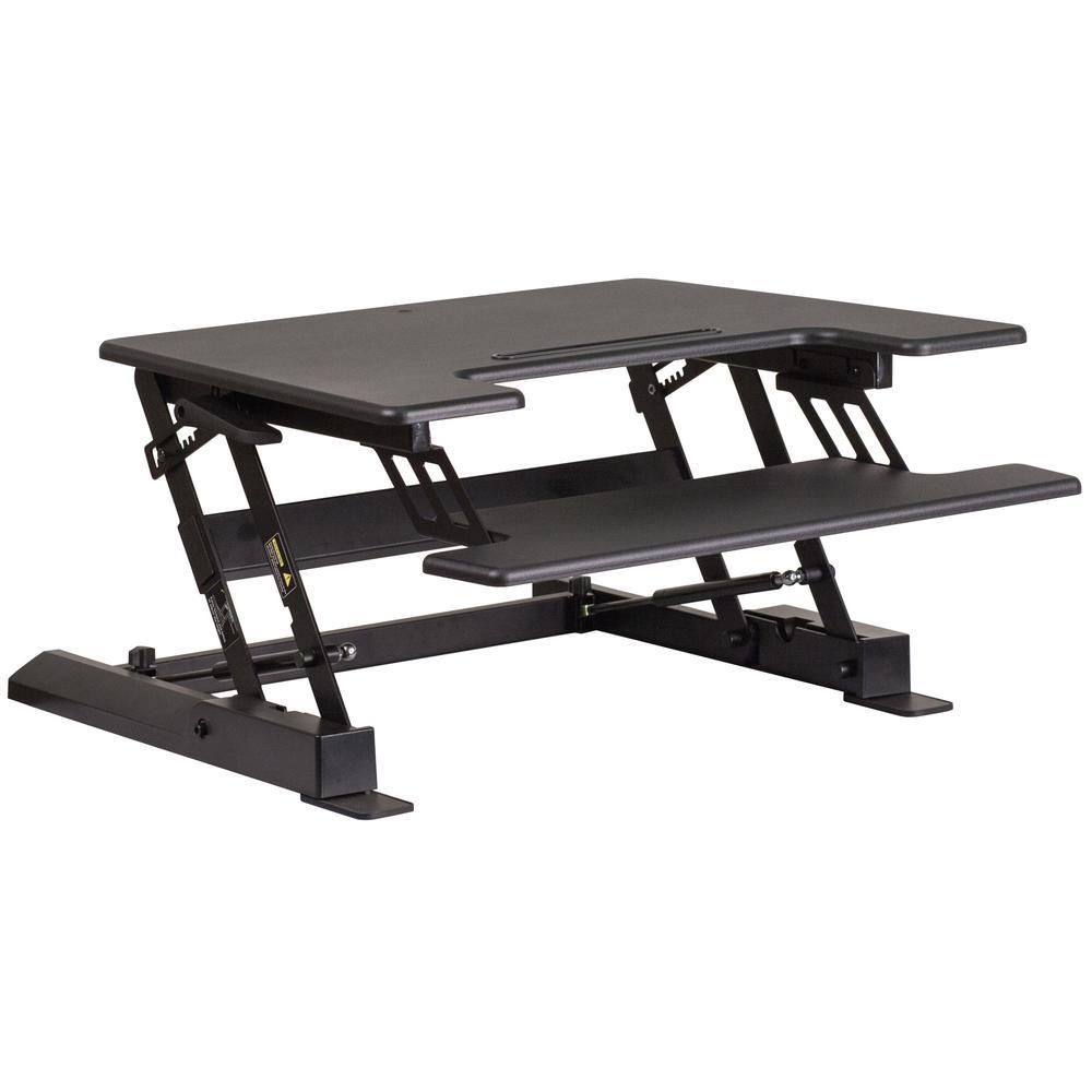 28.3 in. Rectangular Black Standing Desks with Adjustable Height