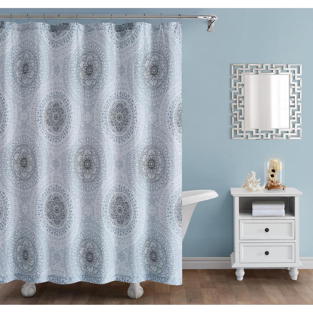 72 in. x 72 in. Ocean Blues Shower Curtain