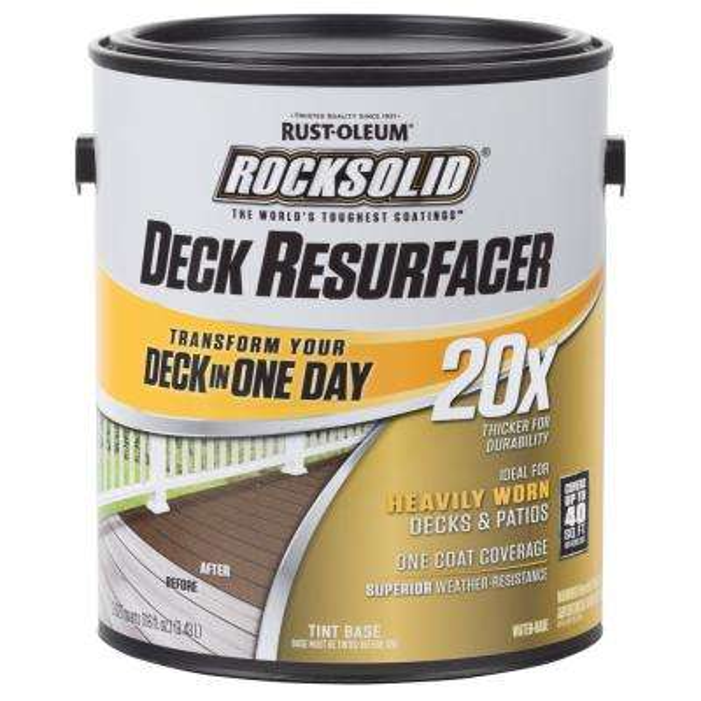 1 gal. Black Exterior 20X Deck Resurfaceer