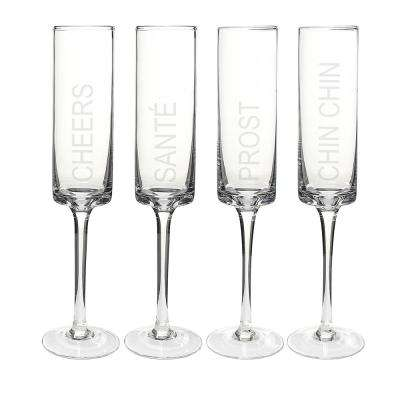 Cheers 8 oz. Glass Contemporary Champagne Flutes