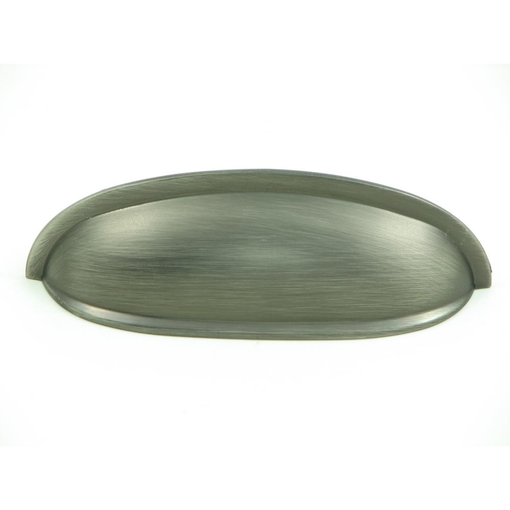 Hudson 3 in. Weathered Nickel Cup Cabinet Drawer Pull