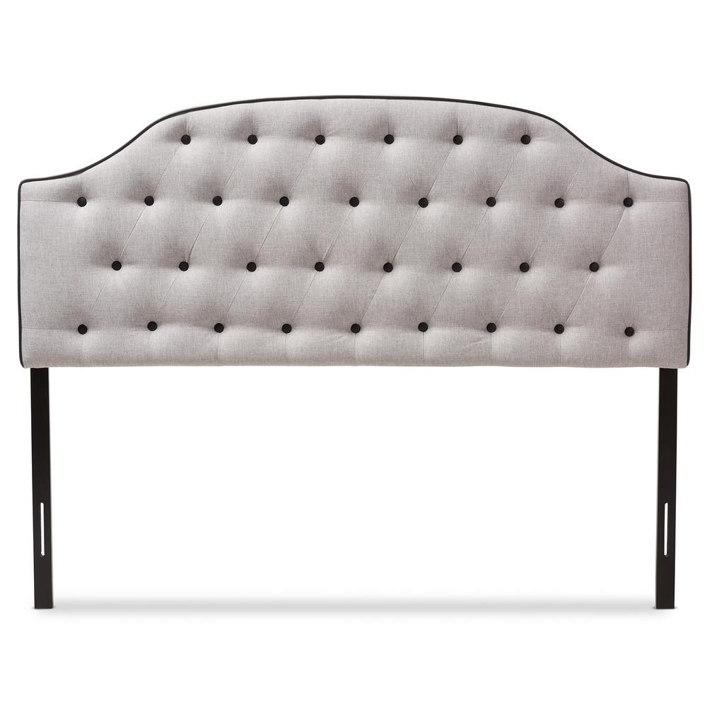 Windsor Greyish Beige Fabric Upholstered Queen Size Headboard