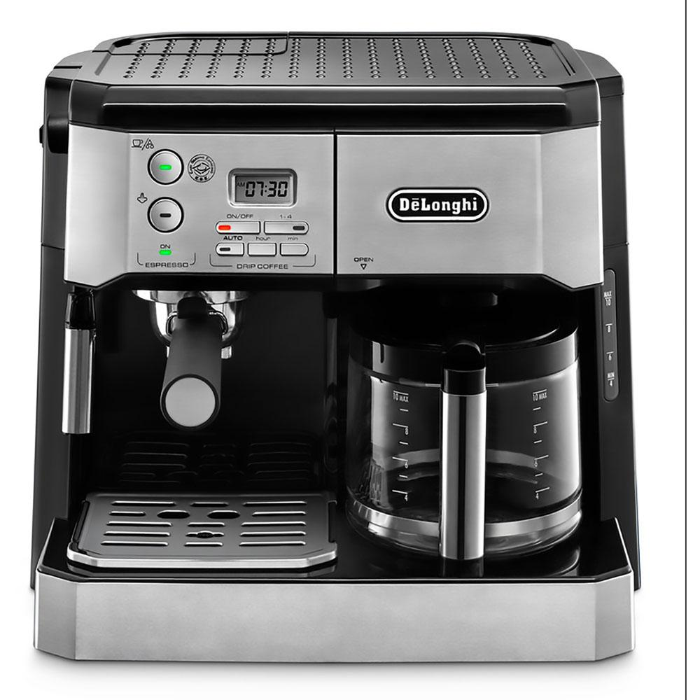 Delonghi Combi 10-Cup Coffee Maker, Stainless And Black