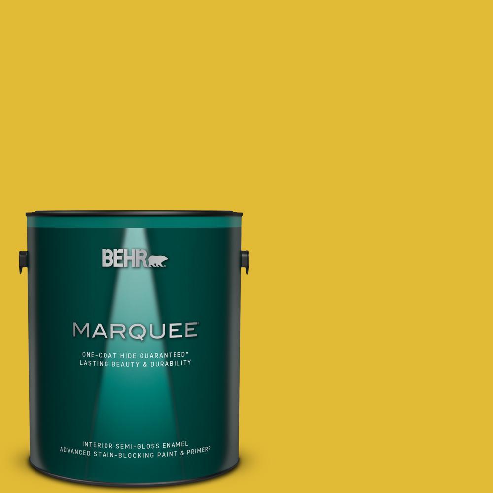 Behr Marquee 1 Gal P310 7 Solarium Semi Gloss Enamel Interior Paint Primer 345301 The Home Depot