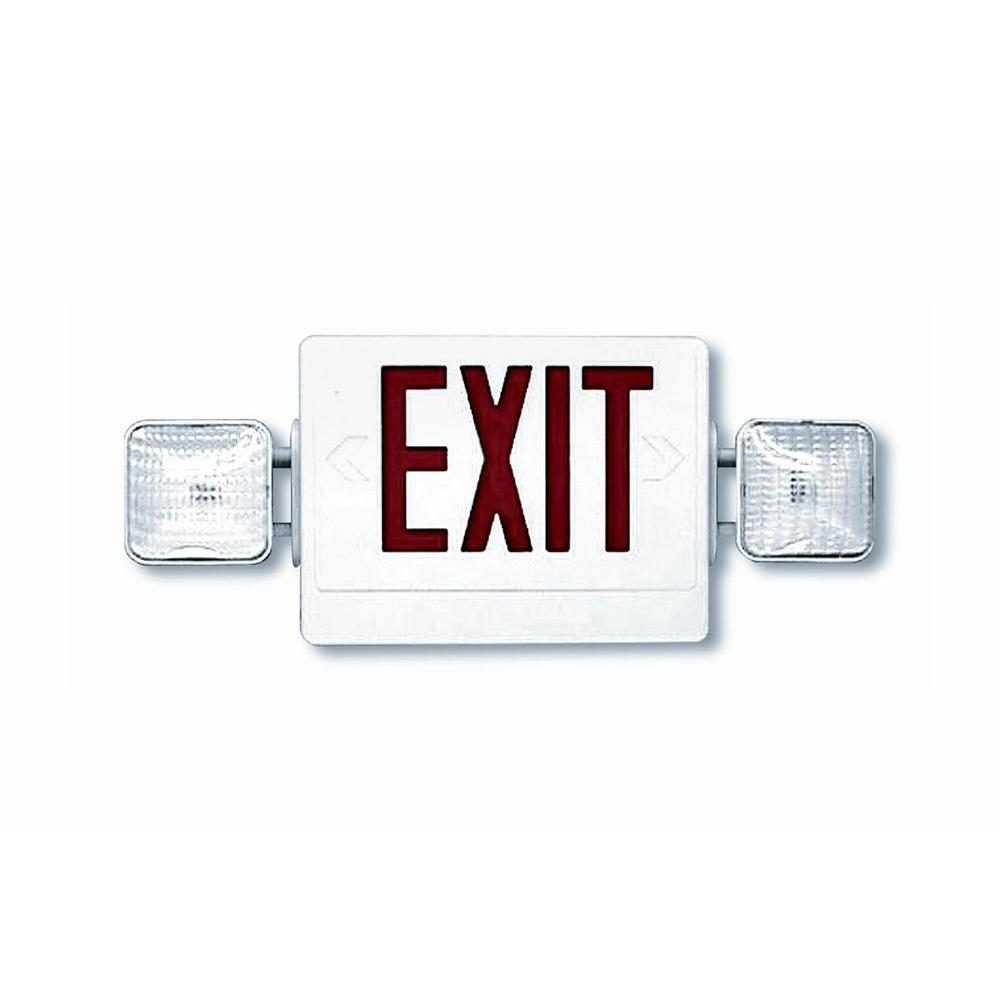Filament Design Nexis 2 Light Die Cast Aluminum LED Double Face NiCad Battery Red Emergency Exit/Combo