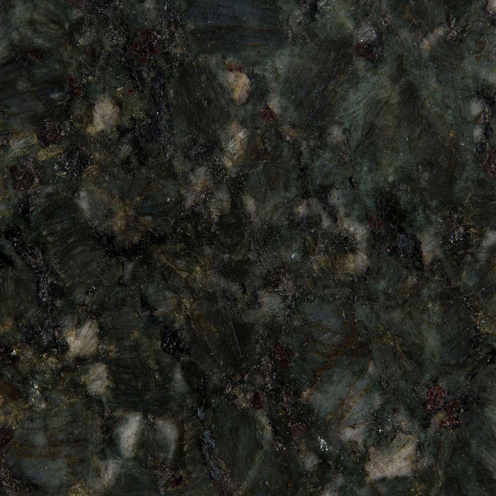 Stonemark Granite 3 in. Granite Countertop Sample in Verde Butterfly