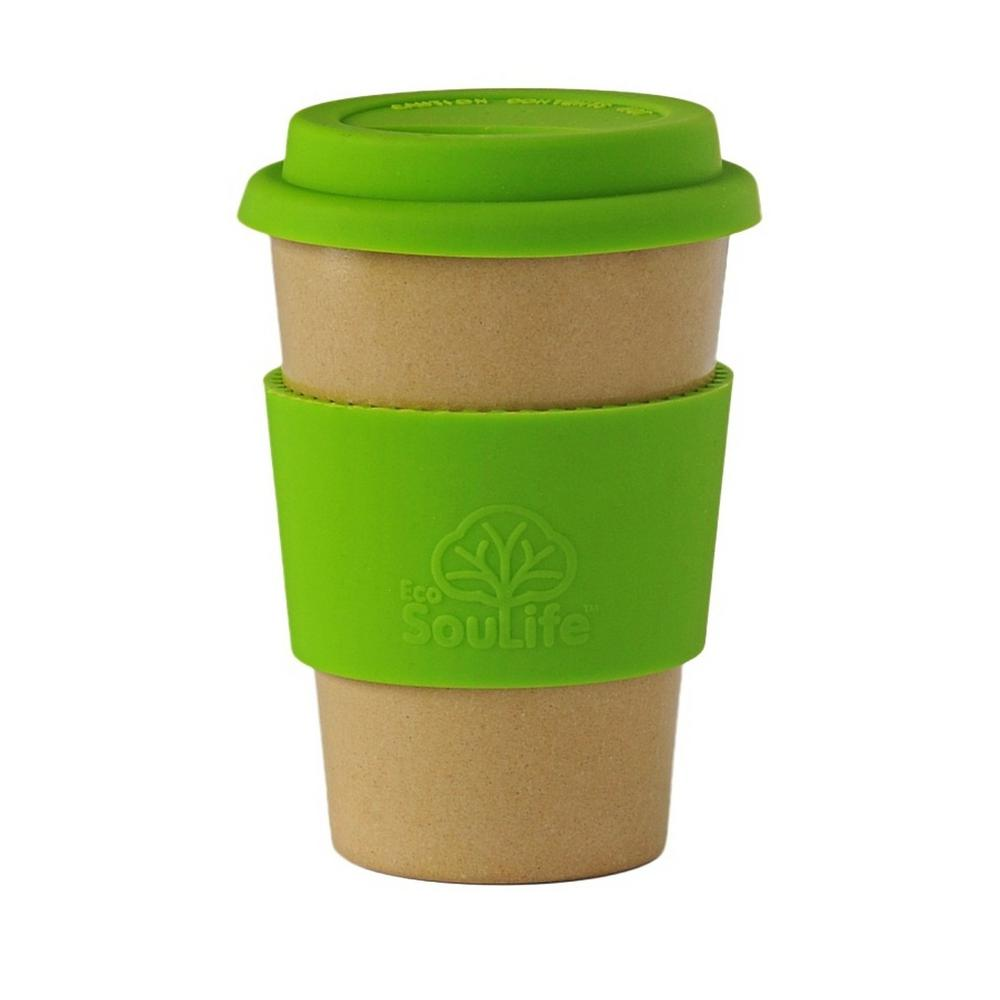 Caf Traveler 15 oz. Natural/Green Husk Cup (2-Pack)
