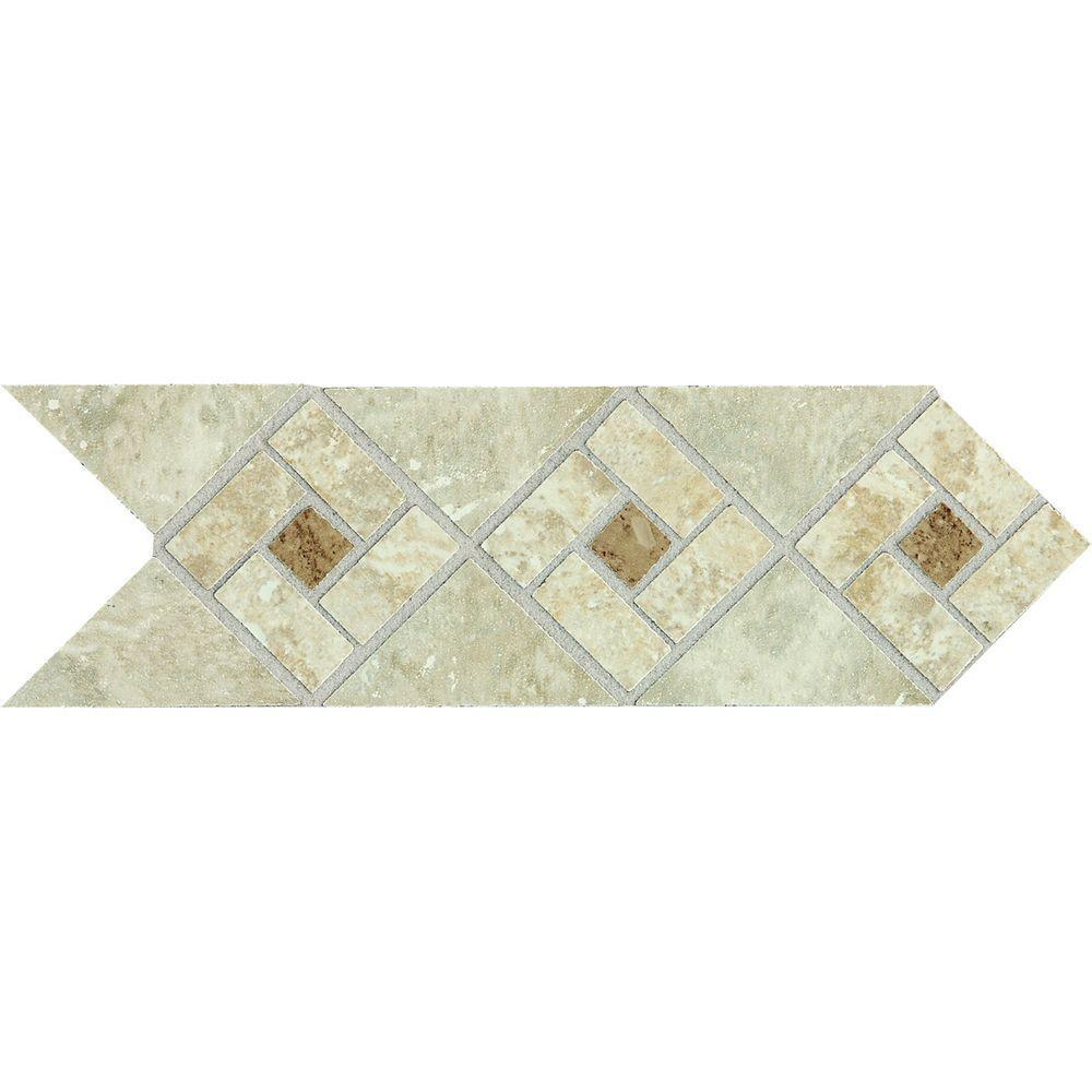 Floor Accents: Daltile Heathland Sunrise Blend 4 In. X 12 In. Glazed