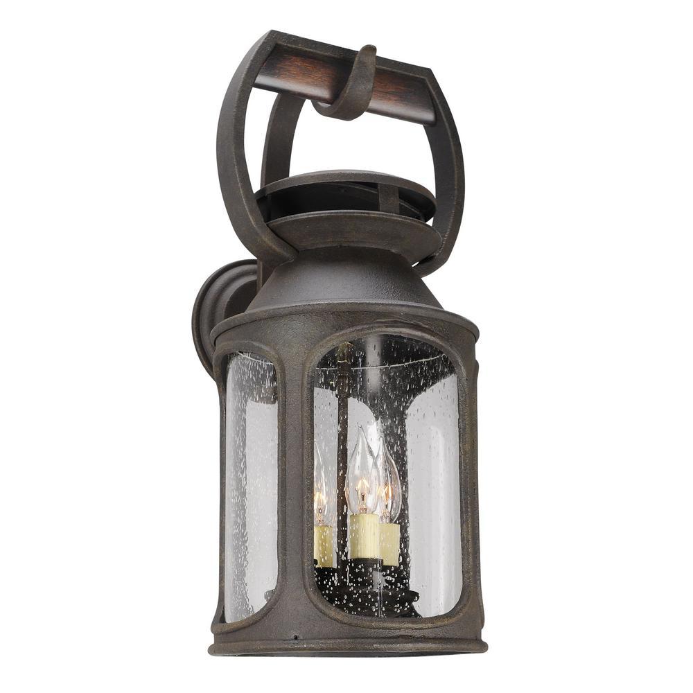 Old Trail 4-Light Centennial Rust Outdoor Wall Lantern Sconce