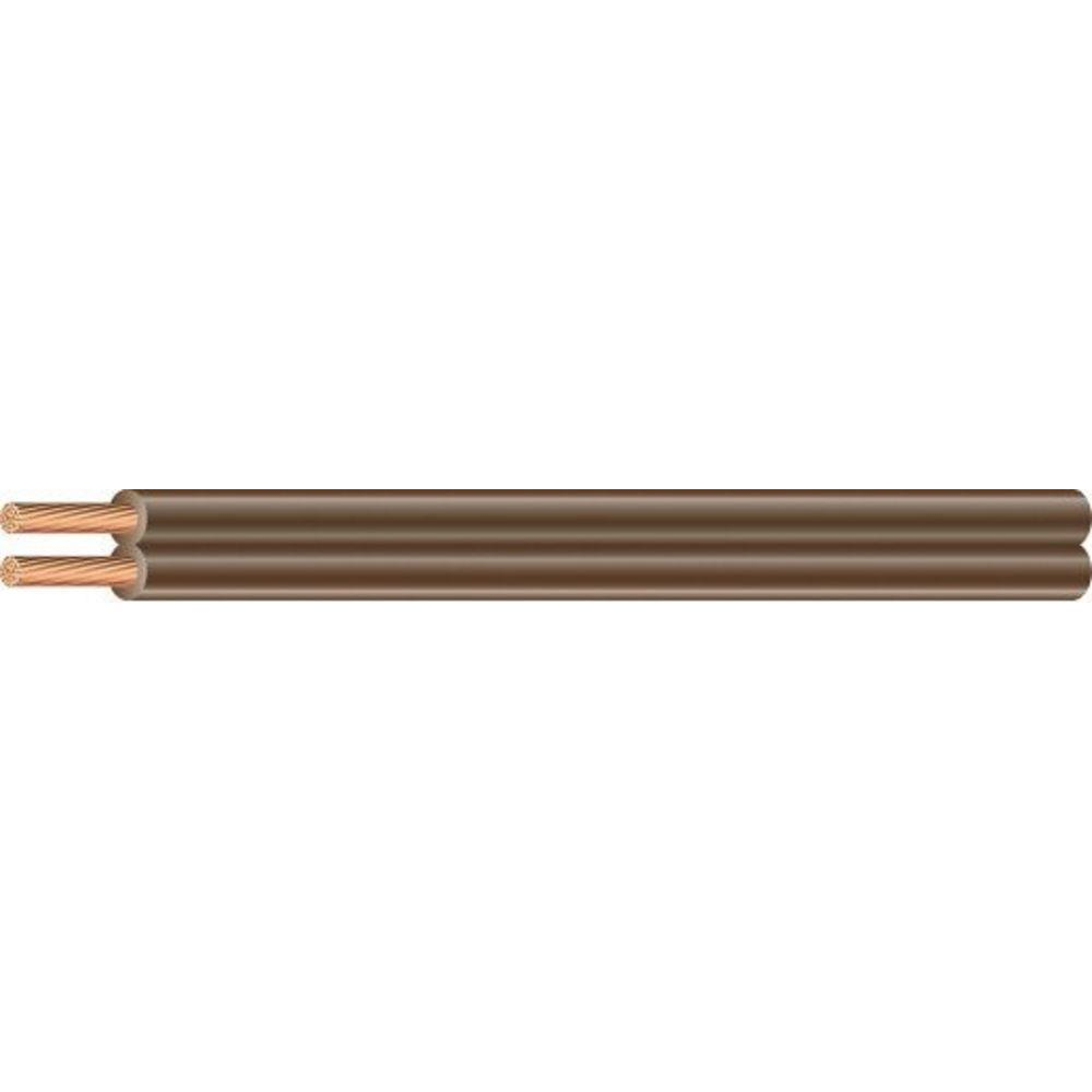Southwire 10 ft. 18/2 Brown Stranded CU SPT-1 Lamp Wire-55680840 ...