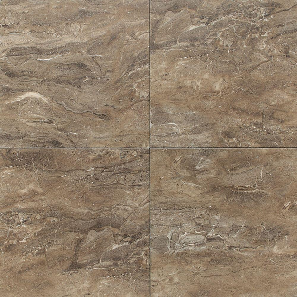 Daltile Grand Cayman Oyster 12 in. x 12 in. Porcelain Floor and Wall ...