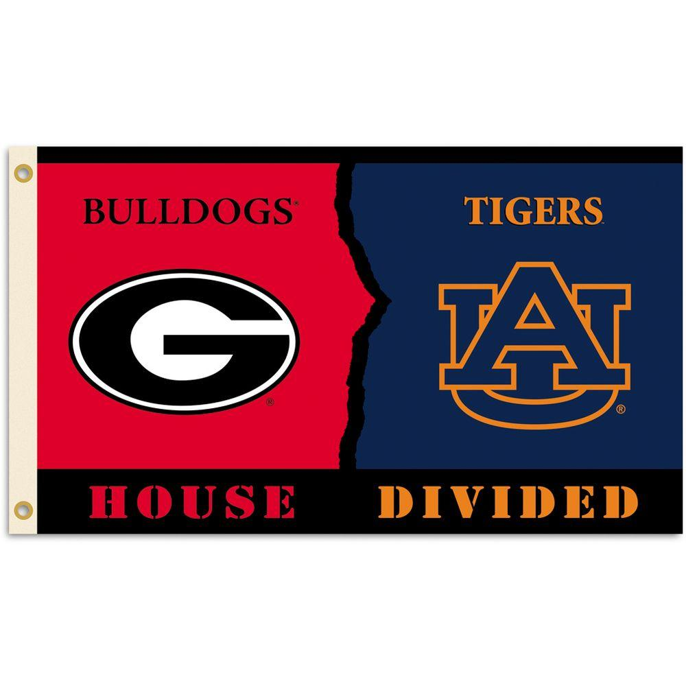 BSI Products NCAA 3 ft. x 5 ft. Georgia/Auburn Rivalry House Divided Flag-DISCONTINUED