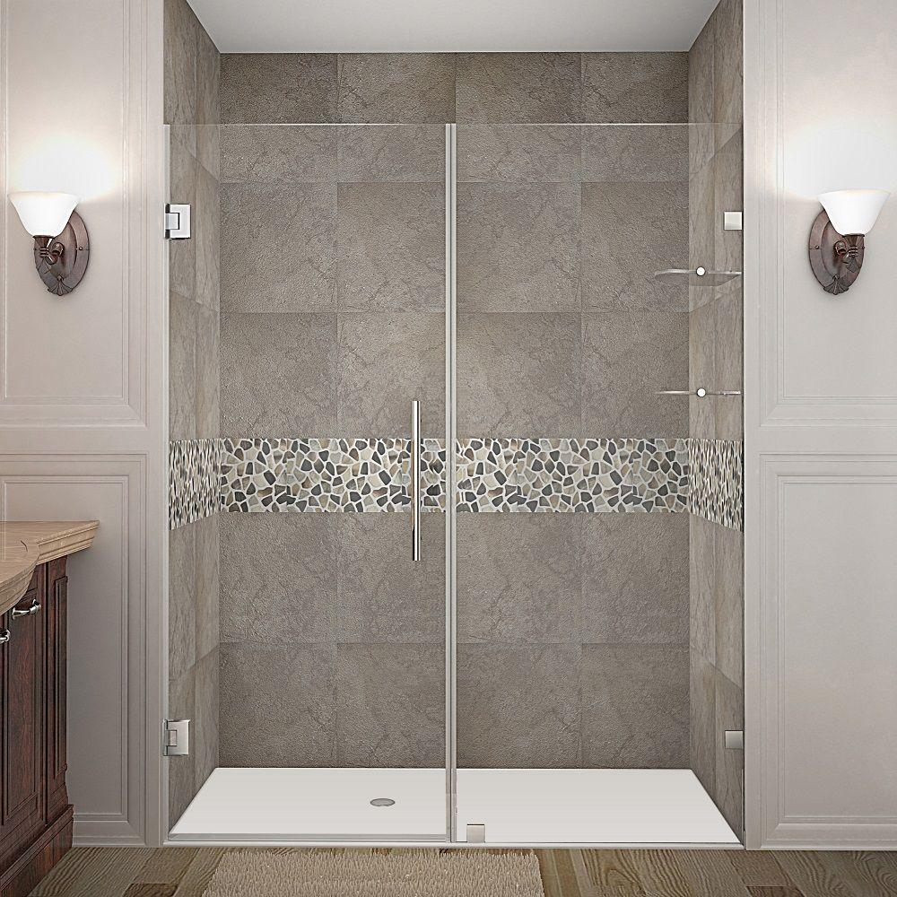Nautis GS 66 in. x 72 in. Completely Frameless Hinged Shower