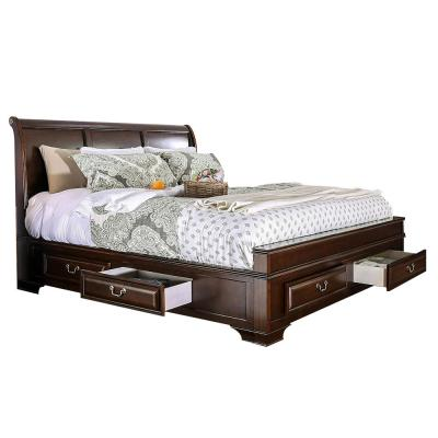 Brandt E.King Bed Brown Cherry Finish