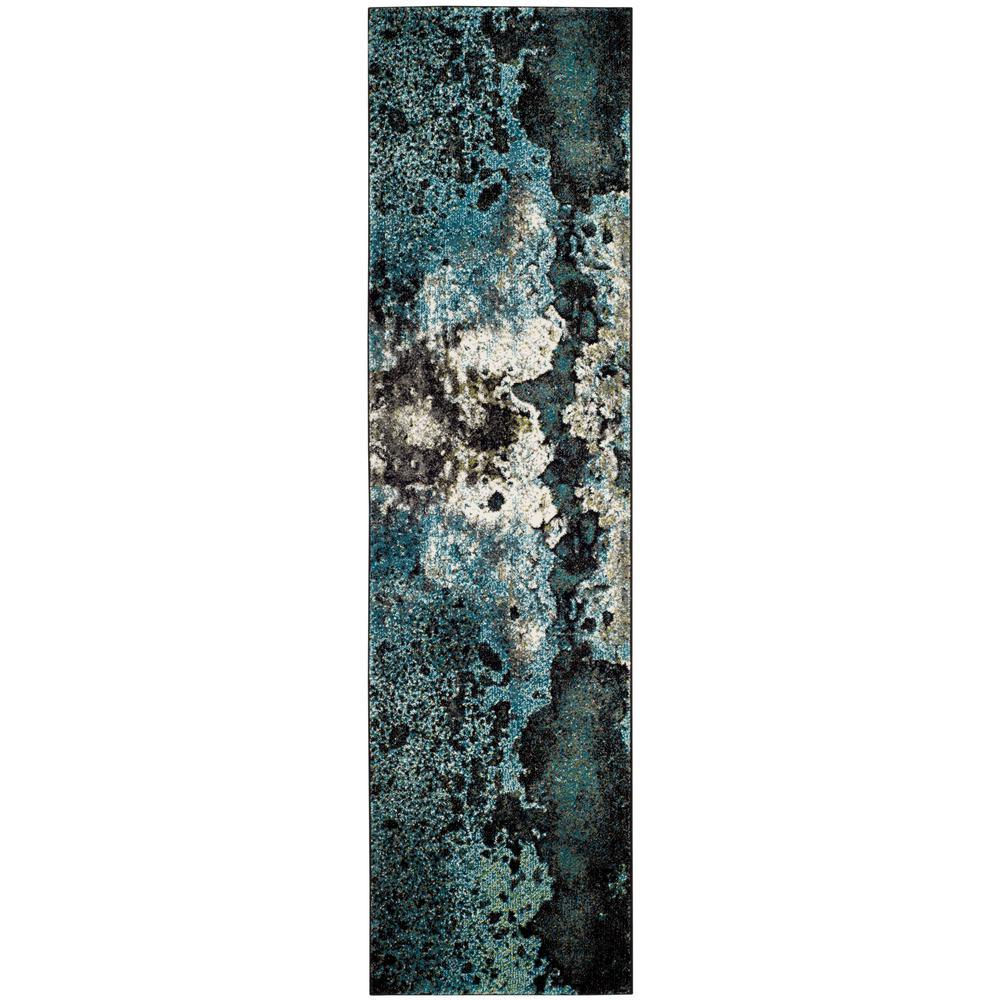 Glacier Blue/Multi 2 ft. 2 in. x 8 ft. Runner Rug