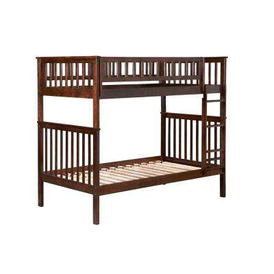Woodland Walnut Twin Over Twin Bunk Bed