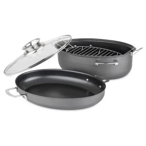 Click here to buy Allrecipes 4-Piece 3-in-1 Oval Roaster Set by Allrecipes.