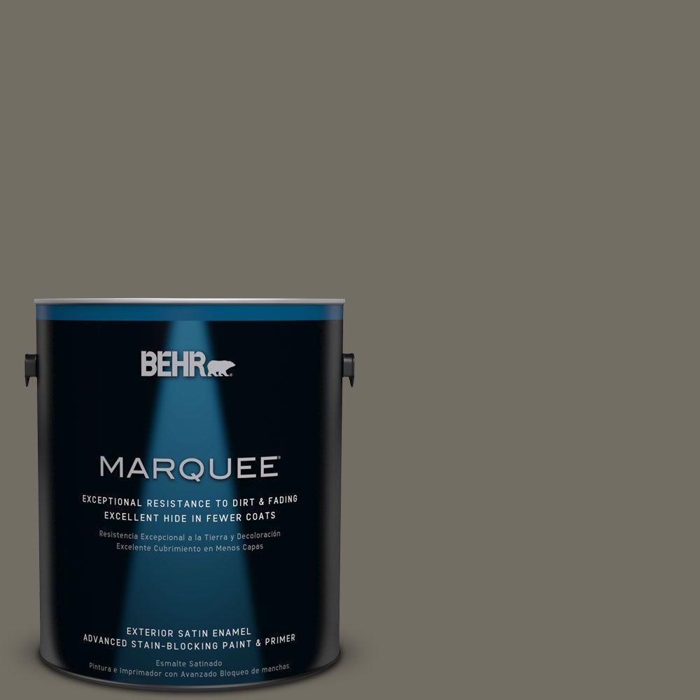 BEHR MARQUEE 1-gal. #ECC-46-2 Eagle Ridge Satin Enamel Exterior Paint