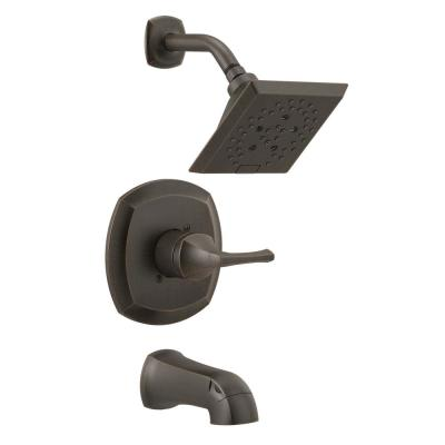 Portwood Single-Handle 5-Spray Tub and Shower Faucet with H2Okinetic in Venetian Bronze (Valve Included)
