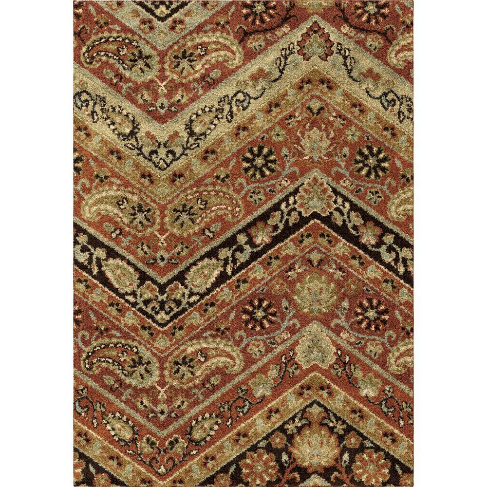 Paisley Area Rugs: Orian Rugs Chevron Paisley Multi 5 Ft. 3 In. X 7 Ft. 6 In