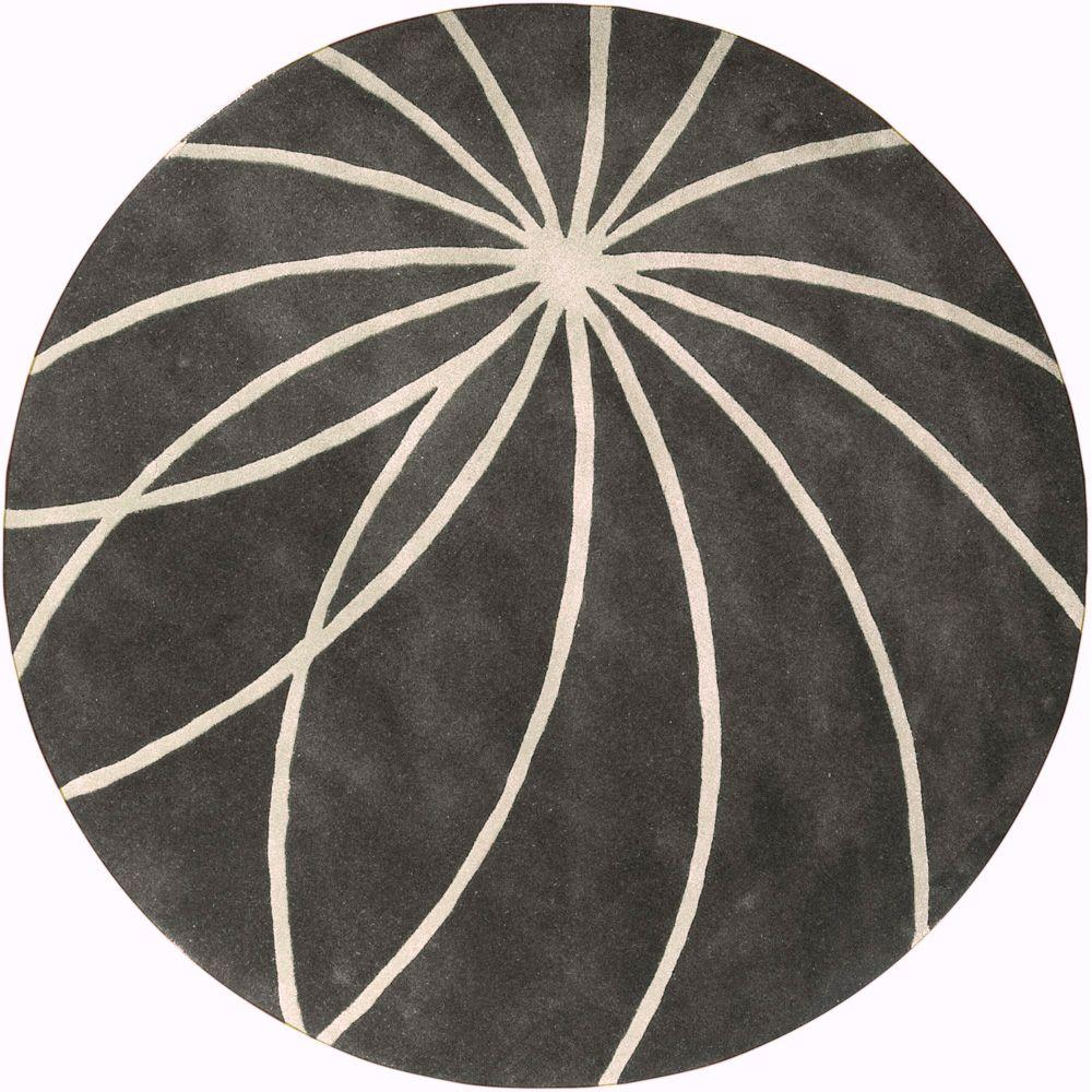 Artistic Weavers Jawa Iron Ore 9 ft. 9 in. x 9 ft. 9 in. Round Area Rug