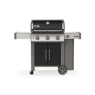 Genesis II E-315 3-Burner Propane Gas Grill in Black