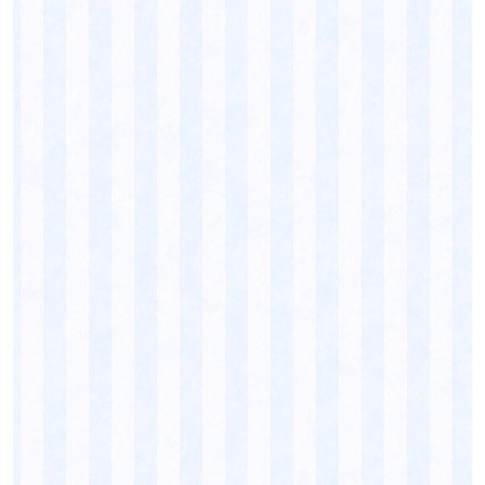 Brewster Kitchen Bath Bed Resource III Blue Stripe Wallpaper Sample 137-41728SAM