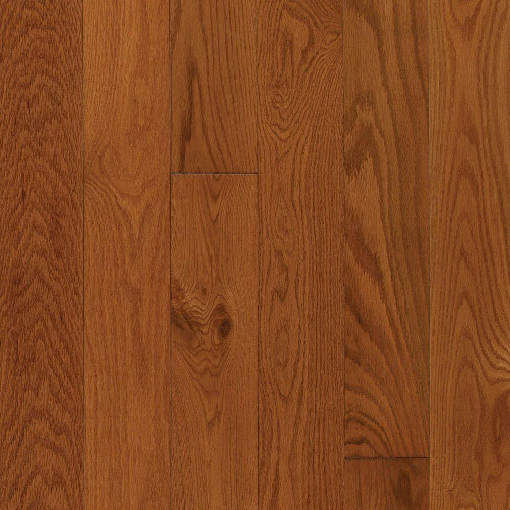 Mohawk gunstock oak 3 8 in thick x 3 in wide x random for Engineered oak flooring