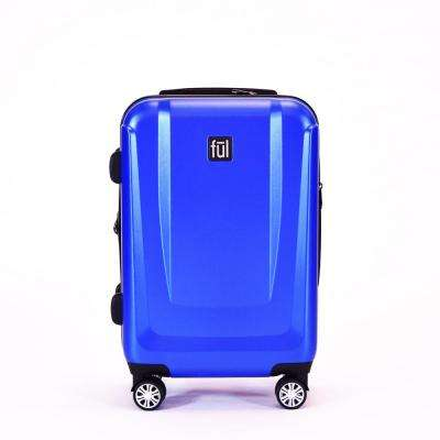 Load Rider 21 in. Cobalt Spinner Rolling Luggage Suitcase Aluminum Telescopic Pull Handle ABS Plastic Hard Case