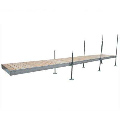 24 ft. Long Straight Aluminum Frame with Cedar Decking Complete Dock Package