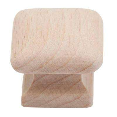 1-1/4 in. Hardwood Square Knob