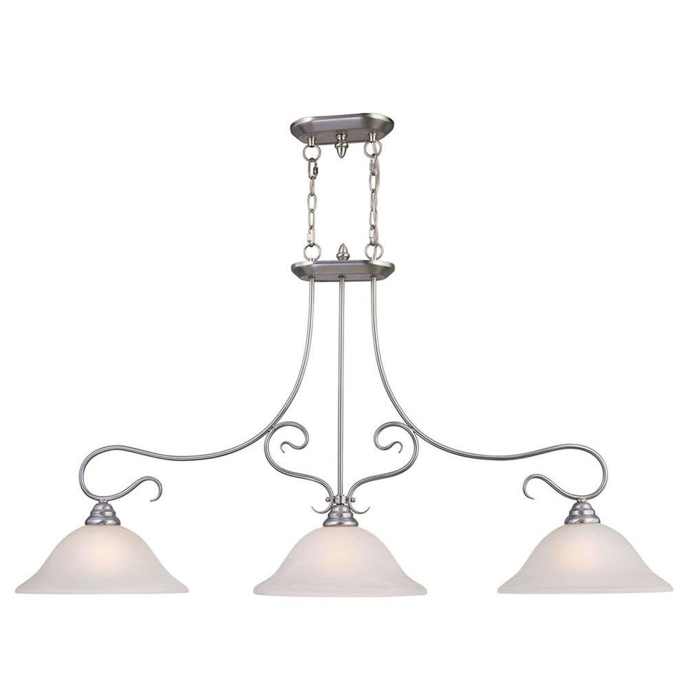 three light pendant kitchen livex lighting providence 3 light brushed nickel 6108