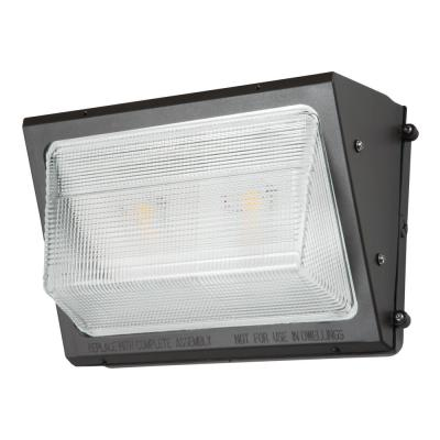WP Series 250-Watt Equivalent Integrated LED Bronze Outdoor Small Wall Pack Light, 10,227 Lumens, 4000K Bright White