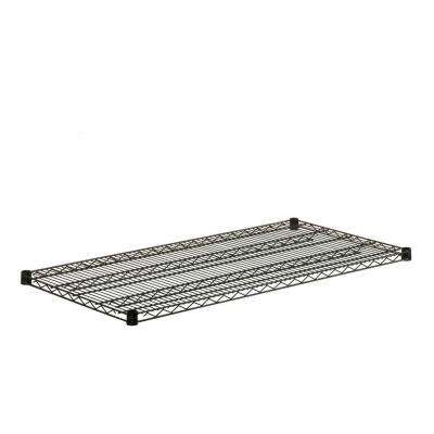 18 in. x 48 in. Steel Shelf in Black