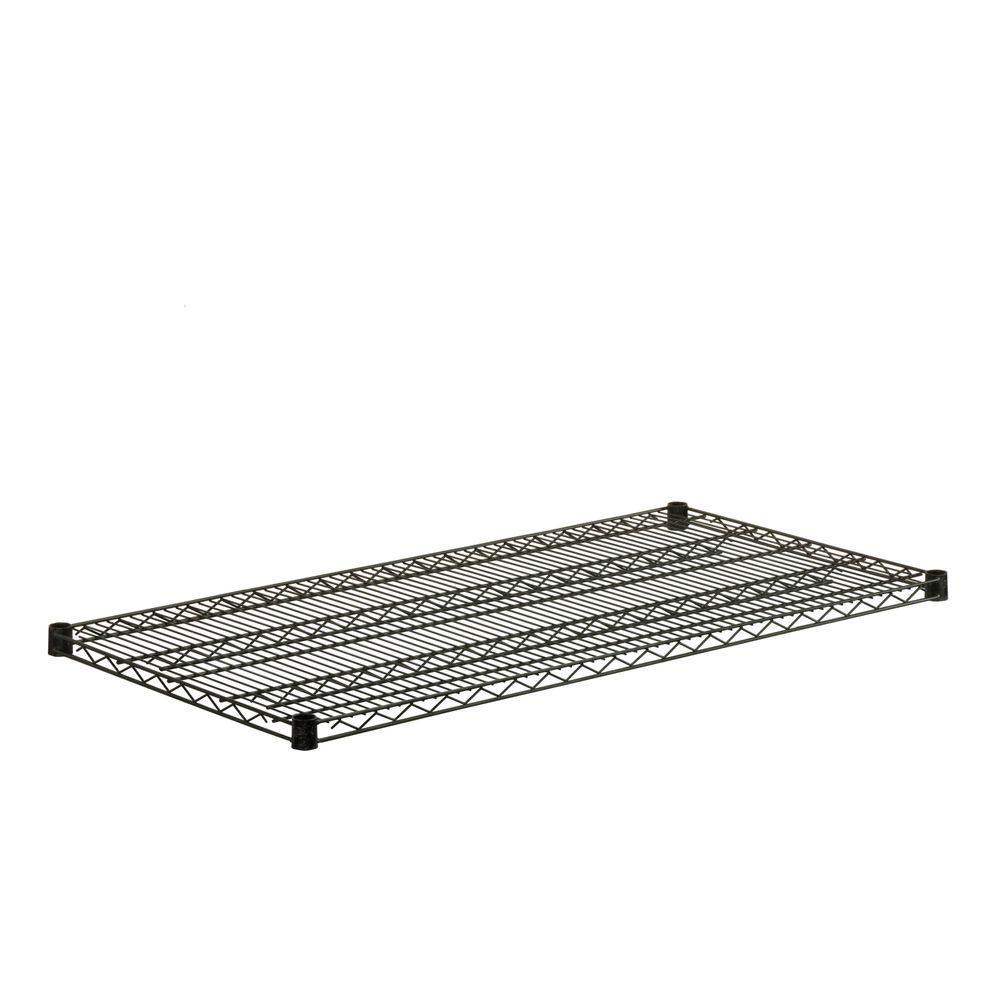 Honey-Can-Do 18 in. x 48 in. Steel Shelf in Black