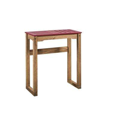 Stillwell 31.5 in. Red and Natural Wood Bar Table