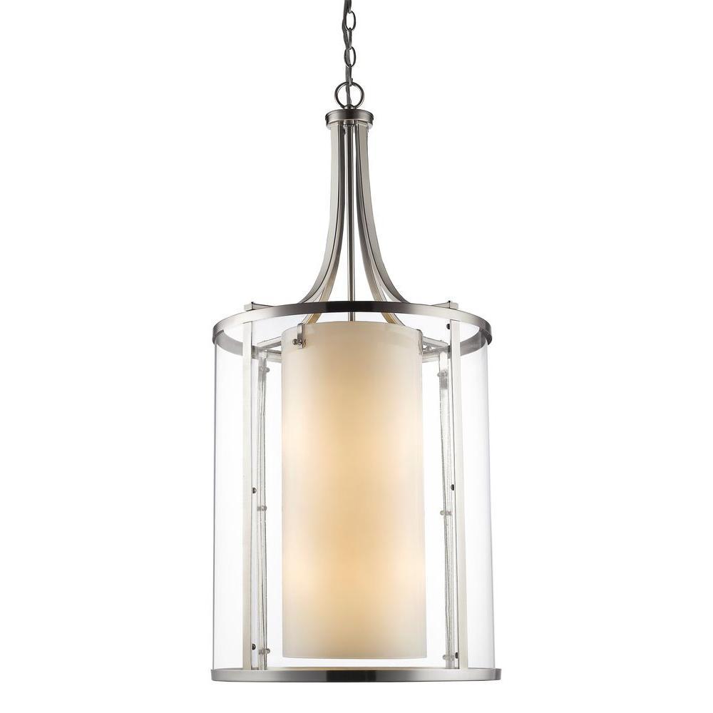 Christen 12-Light Brushed Nickel Pendant