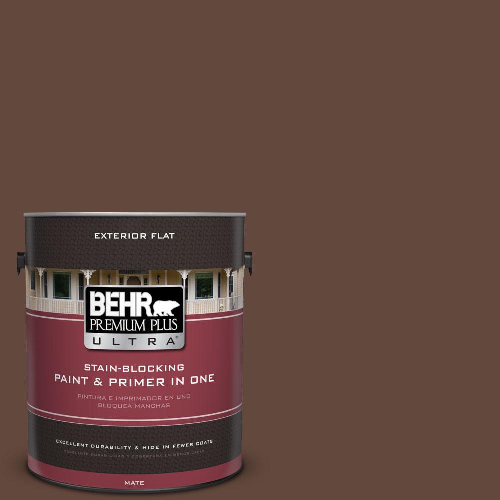 1-gal. #770B-7 Chocolate Sparkle Flat Exterior Paint