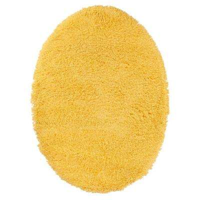 Ultimate Shag Sunshine Yellow 5 ft. x 7 ft. Oval Area Rug